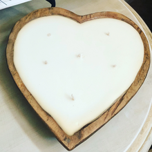 Load image into Gallery viewer, 6 Wick Heart Shaped Dough Bowl Candle