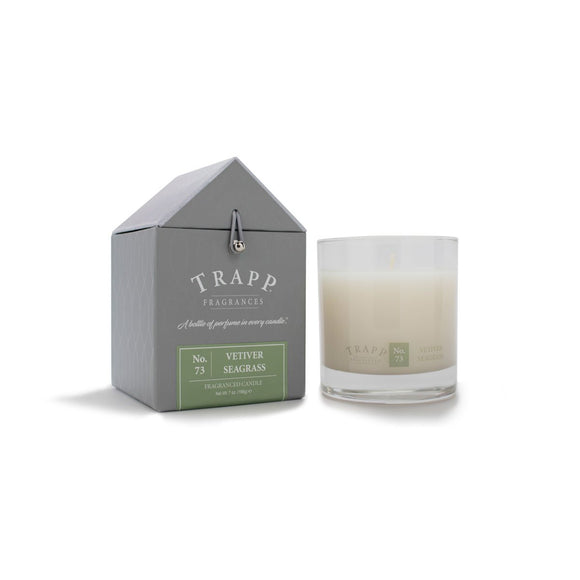 Trapp Signature Home Collection -No. 73 Vetiver Seagrass 7oz Candle in Glass