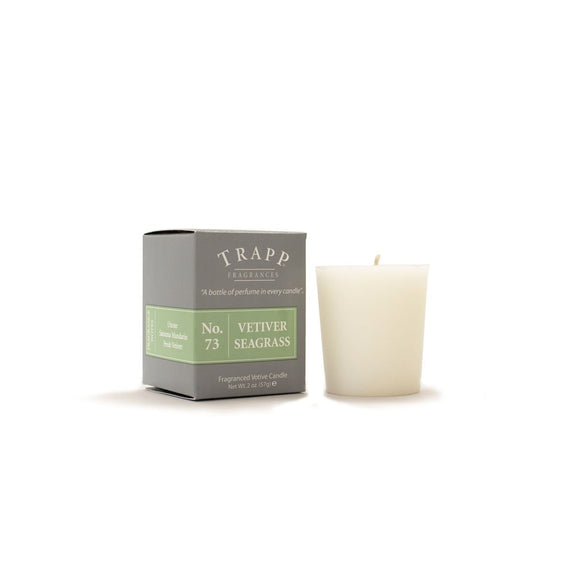 Trapp No. 73 Vetiver Seagrass 2oz Votive Candle