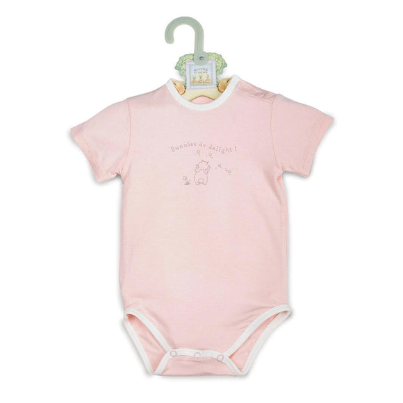 Bunnies Do Delight Pink Bunsie Onesie by Bunnies by the Bay