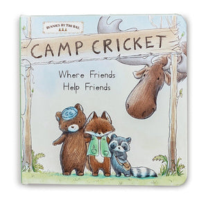 Camp Cricket Where Friends Help Friends Board Book by Bunnies by the Bay