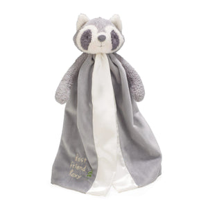 Buddy Blanket Lovey in Gray Roxy the Raccoon by Bunnies by the Bay