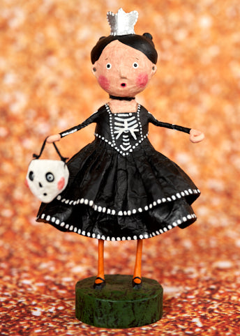 Skeleton Princess Halloween Trick or Treat Figurine by Lori Mitchell