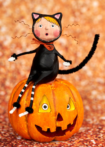 Cat & Jack Halloween Figurine by Lori Mitchell