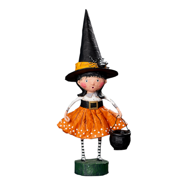 Spellbound Witch Halloween Trick or Treater by Lori Mitchell