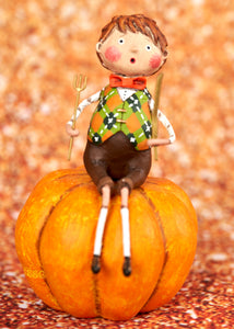 Peter Pumpkin Eater Figurine by Lori Mitchell