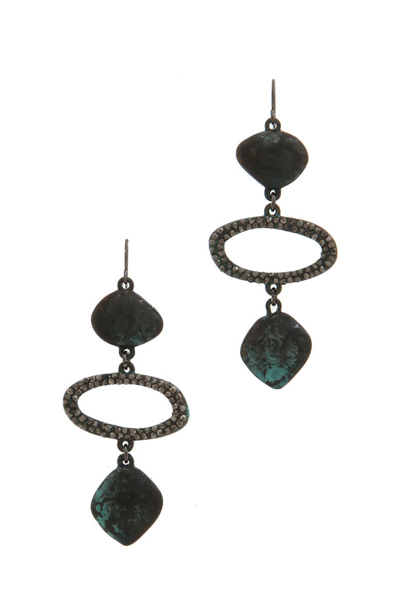 Black Patina Drop Earrings