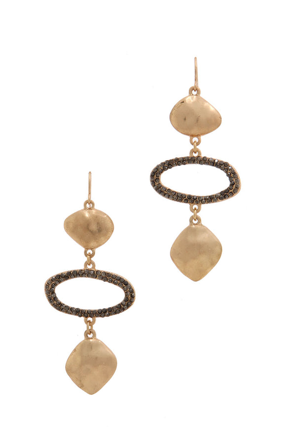 Gold & Black Drop Earrings