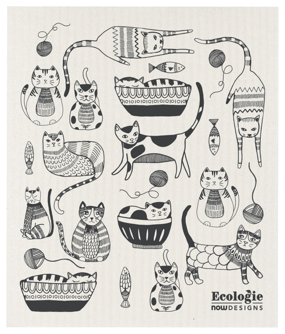 Ecologie Swedish Dish Cloth Purr Party Cats