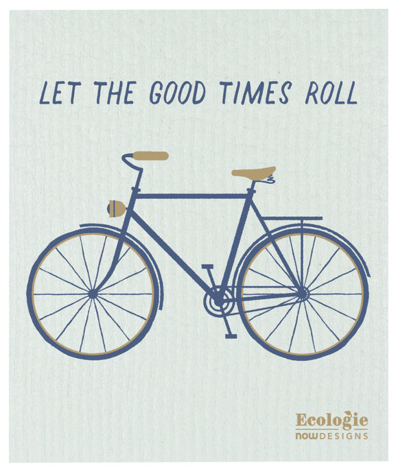 Ecologie Swedish Dish Cloth Let the Good Times Roll Bike