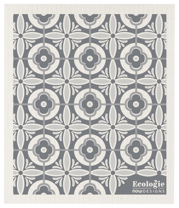 Ecologie Swedish Dish Cloth Avignon Gray White Tile