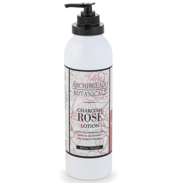 Archipelago Charcoal Rose Lotion 18oz Pump
