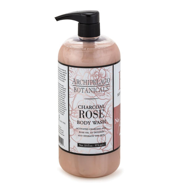 Archipelago Charcoal Rose Body Wash 33oz Pump