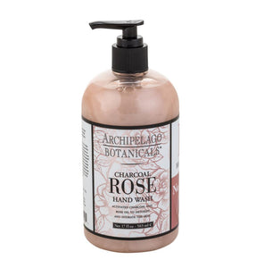 Archipelago Charcoal Rose Hand Wash 17oz Pump