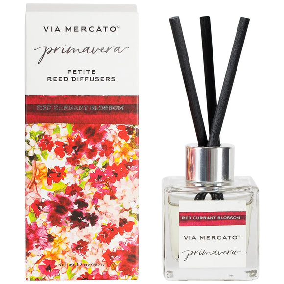 Via Mercato Primavera Petite Reed Diffuser Red Currant