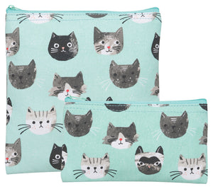 Now Designs Cats Meow Snack Bags Set of 2