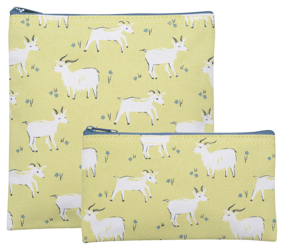 Now Designs Goats Snack Bags Set of 2