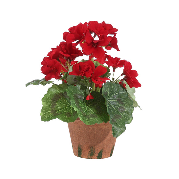 "9"" Red Potted Geranium"