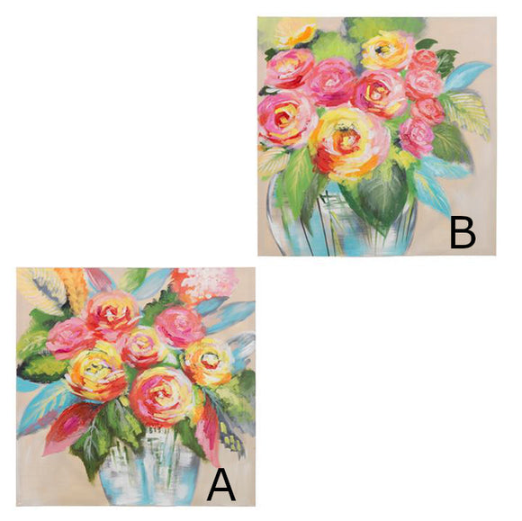 Large bold canvas floral wall art, 2 Designs