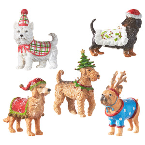 "5"" Dog Ornament - 5 Assorted"