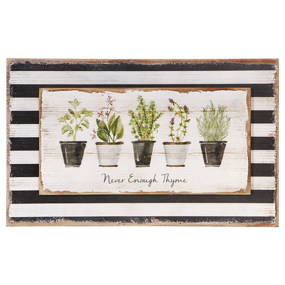 "18"" Herb Wall Art"
