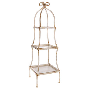 "43"" Distressed 3 Tiered Shelving Unit"