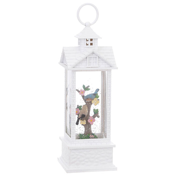 "11.75"" Birds in Lighted Water Gazebo Lantern"