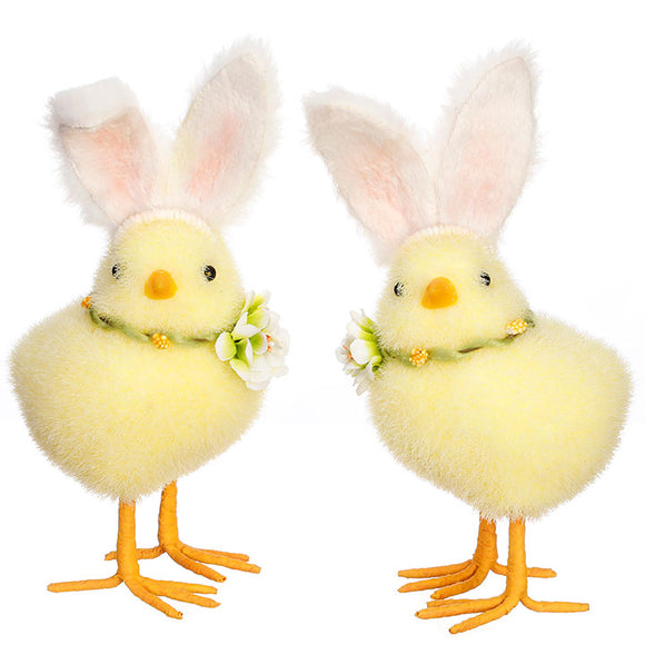 "7.5"" Chick with Rabbit Ears – 2 Assorted"