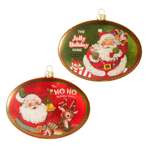 "4.5"" Holiday Games Disc Ornament - 2 Assorted"