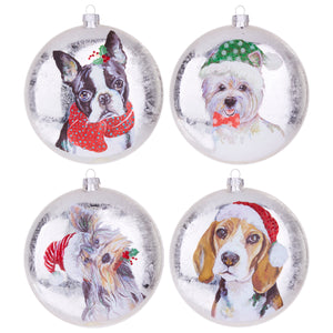 "5"" Dog Disc Ornament - 4 Assorted"