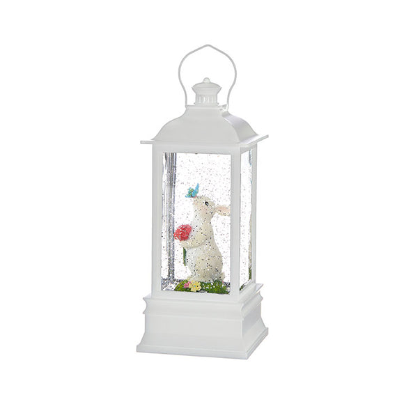 "8.75"" Rabbit with Butterfly Lighted Water Lantern"
