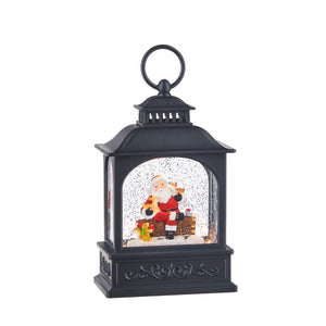 "8.5"" Santa and Friends Lighted Water Lantern"