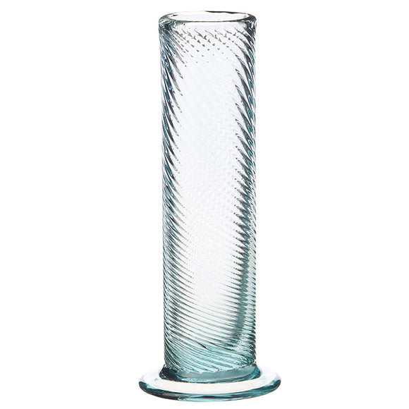 "9.5"" Clear Pulled Glass Vase"