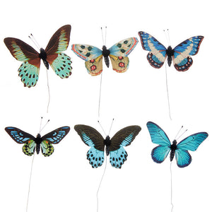 "3"" Multicolor Butterflies Box of 6"