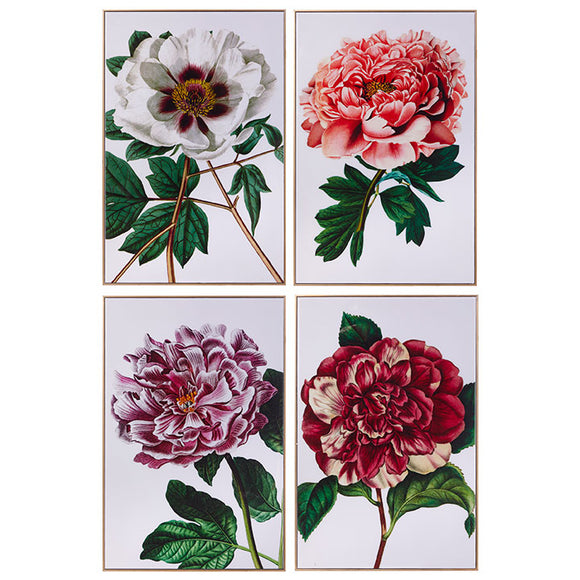 "23.75"" Floral Framed Print – 4 Assorted"