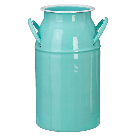 "10.25"" Turquoise Milk Can"