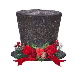 "9"" Top Hat With Red Bow"