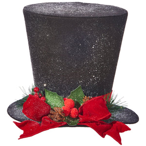 "11"" Top Hat With Red Bow"