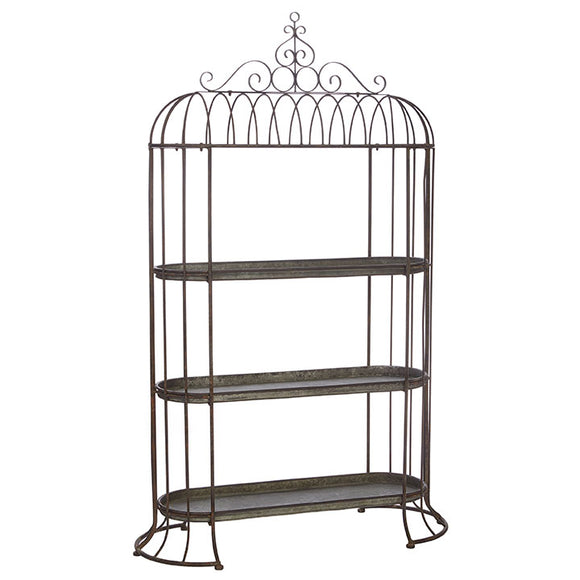 "Black Metal Arbor Etagere Shelf 75"" - Local Pick Up Only"