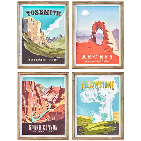 "18"" National Park Wall Art – 4 Assorted"
