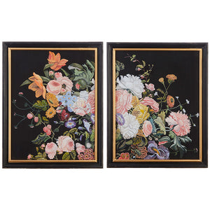 "24"" Floral Frame Print Set of 2 - Sold as a Set"