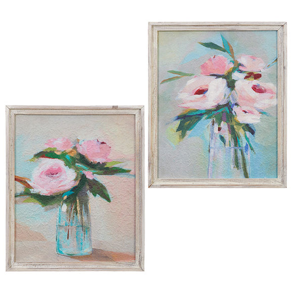 "Rose Framed Wall Art 20"" - 2 Assorted"