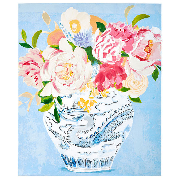"23.75"" Blue & White Floral Wall Art"