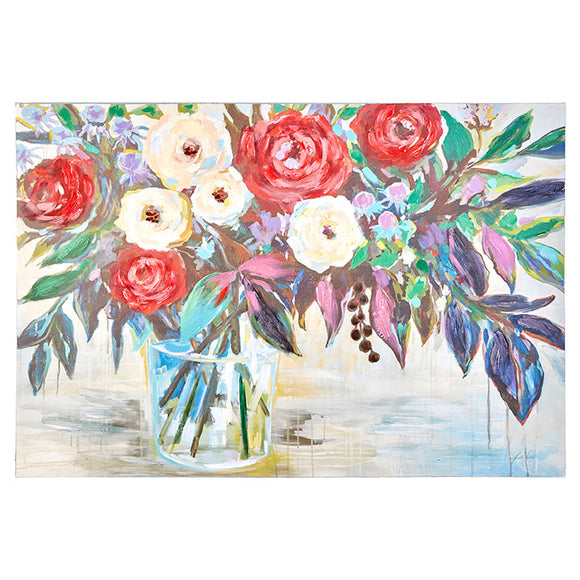"35.5"" Floral Vase Wall Art on Canvas"