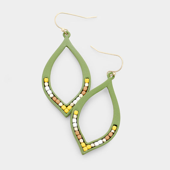 Lime Yellow Goldenrod Drop Earrings