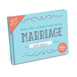 Wishes, Advice & Happy Thoughts for Your Marriage Fill in the Love Gift Book
