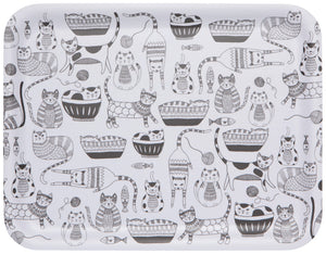 "Now Designs 14"" Cat Purr Party Tray"