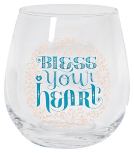 Now Designs Bless Your Heart Wine Glass