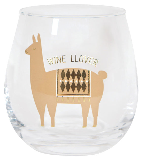 Now Designs Lupe Llama Wine Llover Glass