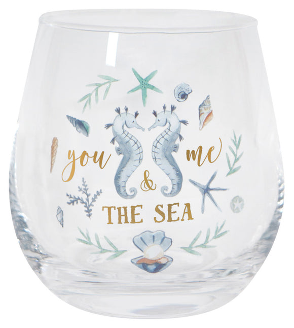 Now Designs Seahorse You & Me & The Sea Wine Glass